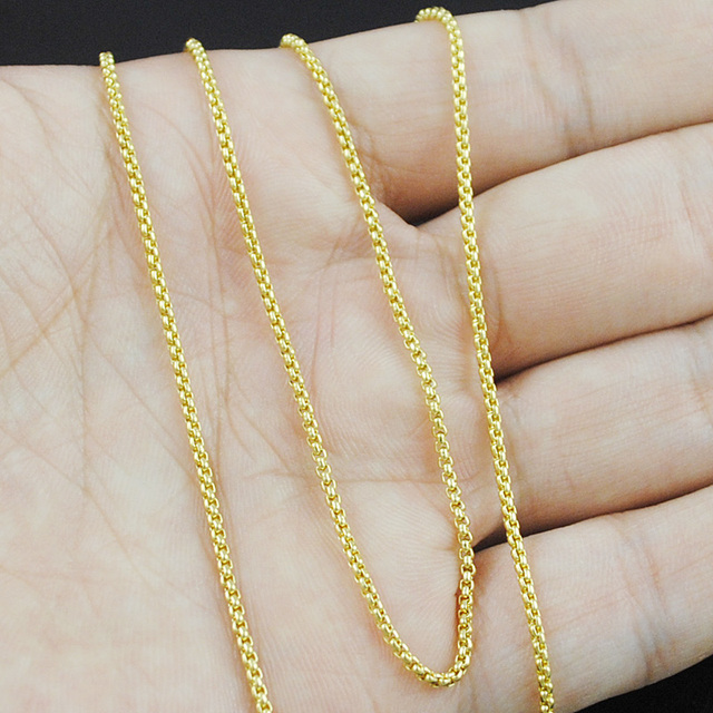 AMUMIU Small Fashion Simple Men Women Chain Necklace Gold / Silver Color 316L Stainless Steel Jewelry Friendship Gifts HN587