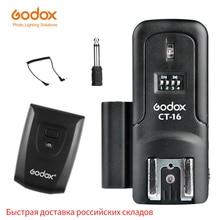 Godox transmissor e receptor sem fio, rádio de 16 canais com gatilho flash + receptor para canon, nikon, pentax, studio, CT 16