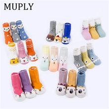 2019 New Arrival Newborn Spring Autumn Infant Funny Socks Anti Slip Baby Girl With Rubber Soles Cute