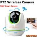 960 P PTZ Câmera IP controle remoto Pan/TILT dois sentidos placa de áudio 1.3MP wi-fi Sem Fio Da Câmera de detecção de movimento noite ir Cartão SD armazenamento
