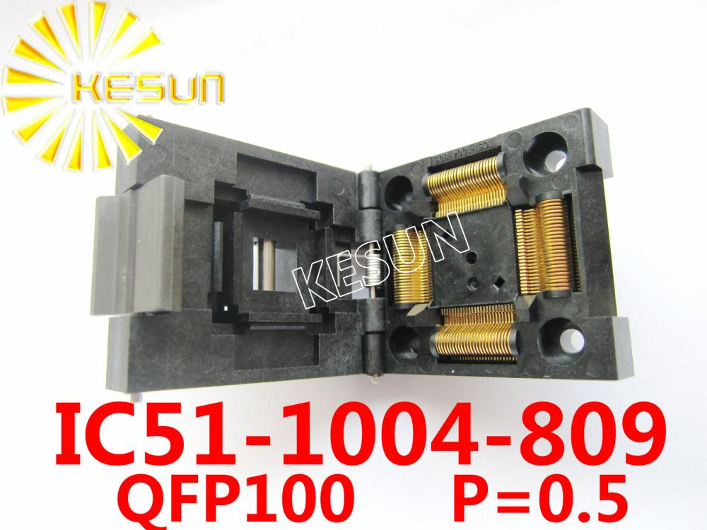 все цены на ORIGINAL IC51-1004 QFP100 TQFP100 IC Test Socket / Programmer Adapter / Burn-in Socket ( IC51-1004-809 ) онлайн