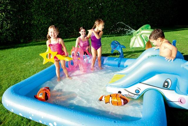 summer water sports entertainment amusement park inflatable indoor playground carton sea fish octopus slide ball pool