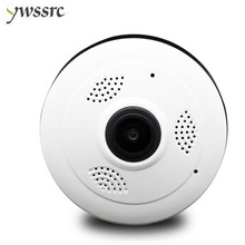 ywssrc 360 Degree Panoramic Wide Angle mini CCTV Camera Fisheye 960P/1080P Security Home Wifi IP Smart Wireless