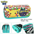 Pokemon Pikachu Boy Girl Cartoon Pencil Case Bag School Pouches Children Student Pen Bag Kids Purse Wallet Gifts