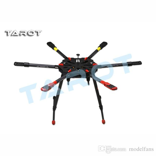 Aerops Таро X6 углеродного волокна рамка TL6X001 с электрическим выдвижной посадочные полозковые шасси и локтевые для FPV Дрон с камерой