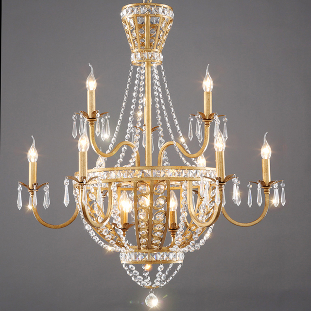 Online shop american vintage rustic french style crystal american vintage rustic french style crystal chandelier light home lighting chandeliers rustic country style creative pastoral aloadofball Images