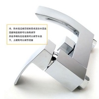 Square Copper Hot And Cold Tub Shower Faucet Mixing Valve Sanitary Ware Kitchen Faucets Single Handle
