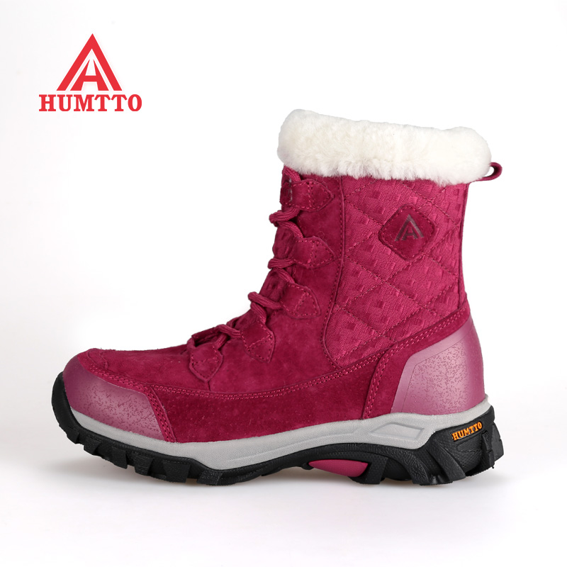 Famous Brand Women s Winter font b Hiking b font Trekking Boots Shoes For Women Leather