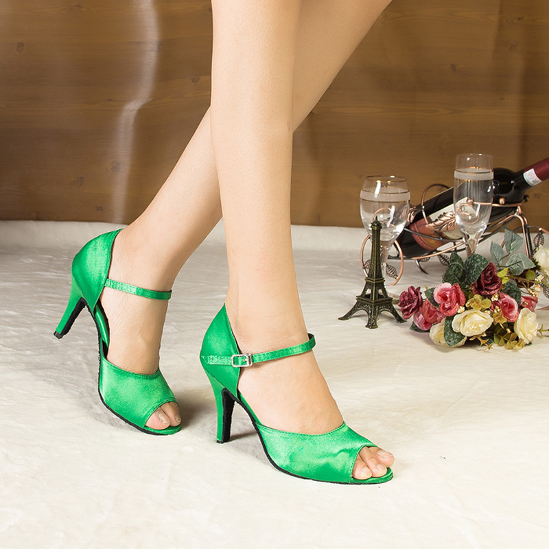 Woman Ballroom Latin Dance Shoes Salsa Social Party Shoes Female Samba Tango Dance Shoes High Heel 8.5cm Soft Sole 1841