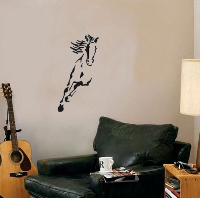 Australia wild horse animals wall decals vinyl stickers home decor living room decoration bedroom wallstickers murals in wall stickers from home garden on