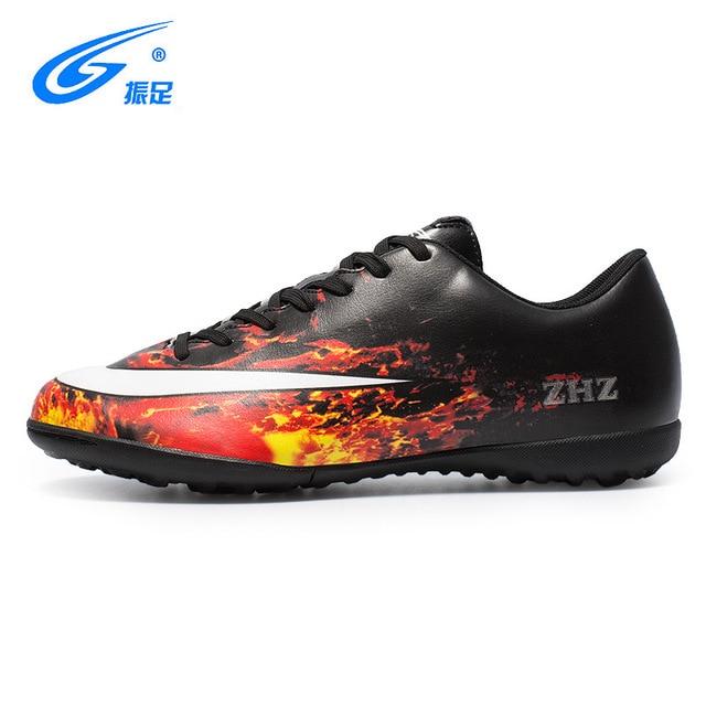 34aaaae5fe3b ZHENZU 2018 New Soccer Shoes Men's Football Boots Indoor Soccer Cleats  Shoes Sneakers Chaussure De Foot Voetbalschoenen