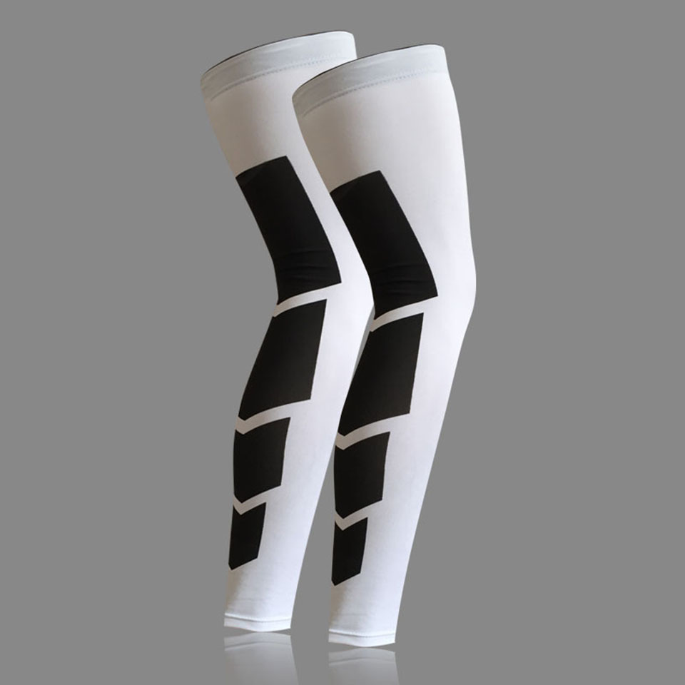 1 pièces Super élastique Lycra basket-ball jambières mollet cuisse Compression manches genouillère football volley-ball cyclisme