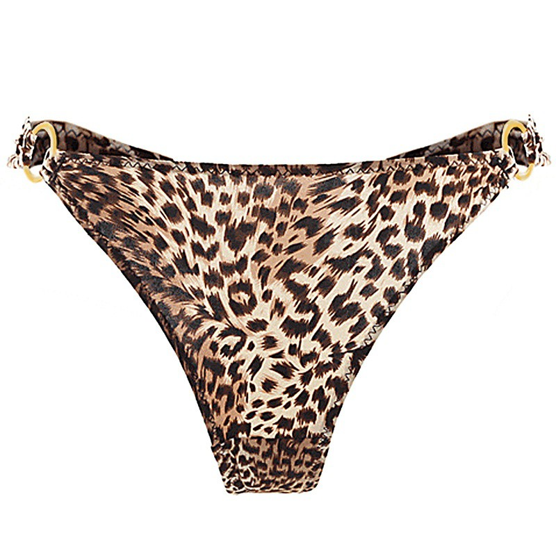 08b2c53b27c3 Sexy Leopard Panties Women Underwear Sexy Side Ring Buckle Temptation G- String Briefs Soft Seamless Panties