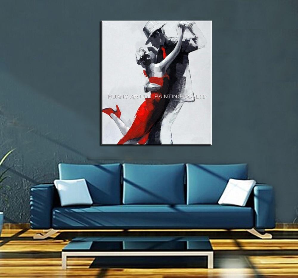 Ručno oslikana slika moderne plesačice na platnu za ukras dnevnog - Kućni dekor - Foto 2