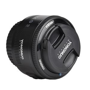 Image 3 - במלאי! YONGNUO YN50mm f1.8 YN EF 50mm f/1.8 AF עדשה YN50 צמצם פוקוס אוטומטי עבור Canon EOS DSLR מצלמות