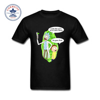 2017 Funny Hip Hop Printed Funny Cool Rick Morty Cotton Funny T Shirt For Men