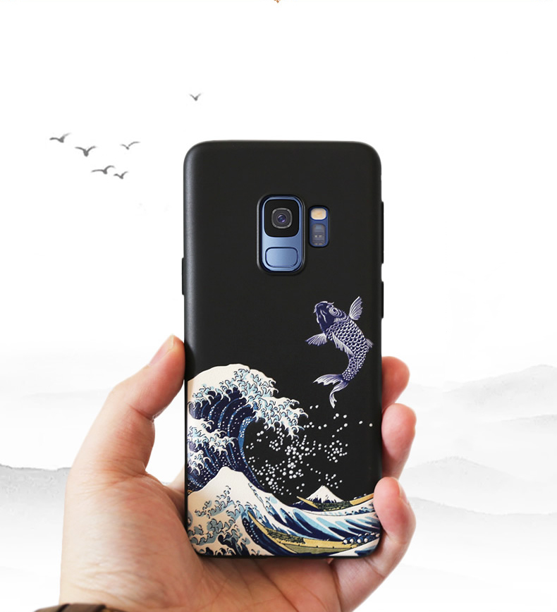 3D Art Relief Embossing Matte Soft Cover Case for Samsung Galaxy S20