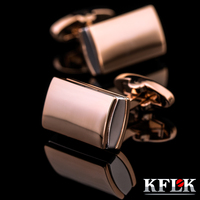 KFLK electroplating gold cufflinks coffee man French shirt sleeve nail cufflinks 2017 high quality new products free shipping