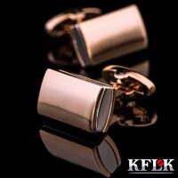 KFLK galvanik gold manschettenknöpfe kaffee mann Französisch hemdsärmel nagel manschettenknöpfe 2018 hohe qualität neue produkte kostenloser versand