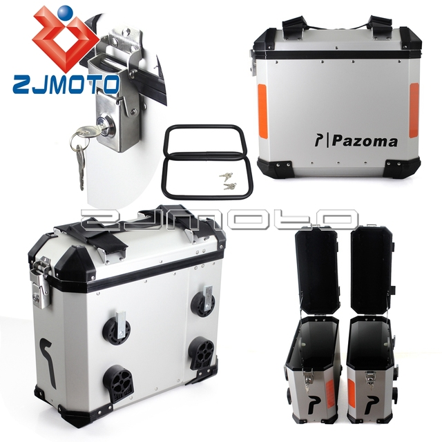 Zjmoto New Motorbike Luggage Plate Side Saddlebag Rear Bag Fits