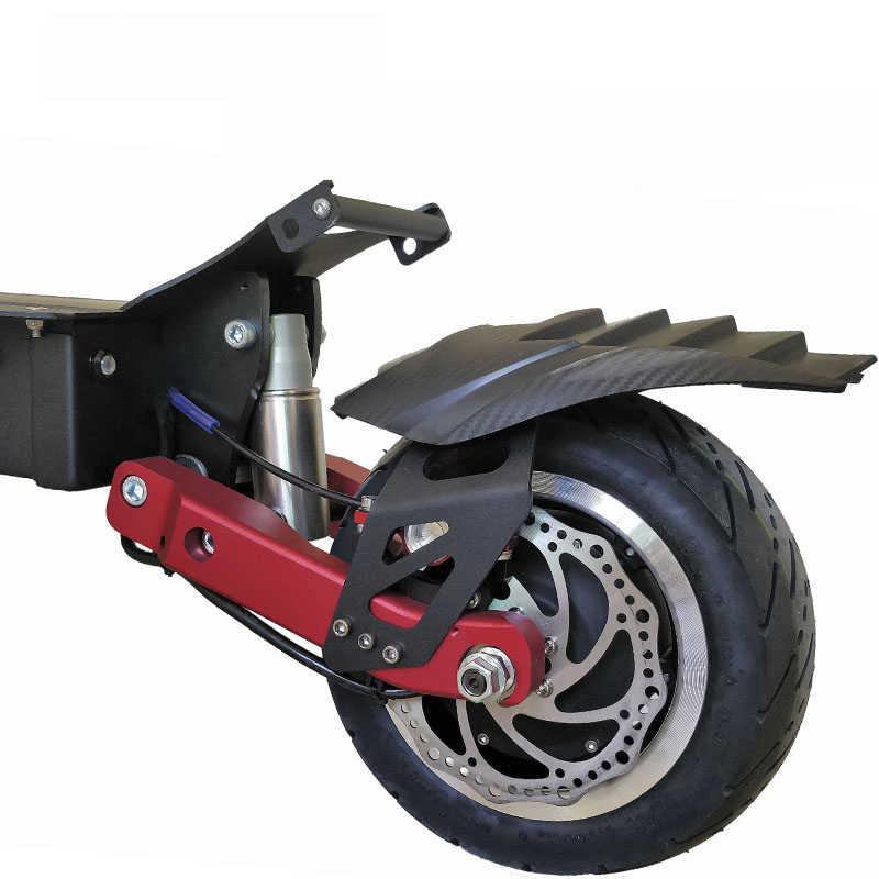 "62 в 3200 Вт Электрический Скутер 11 ""Ховерборд Kart 9 см Fat Tire передние задние два двигателя колеса складной электрический скейтборд LG батарея"