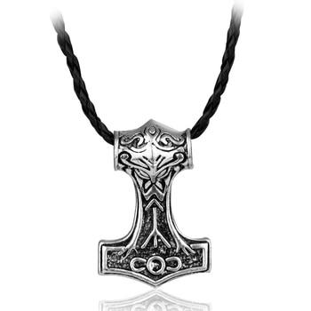Collar de martillo Thor de 8 estilos el mundo oscuro aleación THORS Hammer Norse Magick Mjolnir COLLAR COLGANTE de estaño para hombres