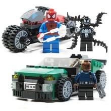 New Marvel Super Heroes Set 237pcs Spiderman Bike Rescue Building Blocks Children Gifts Compatible Avengers Endgame 76004