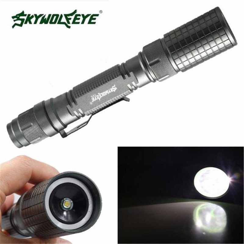 1PC Cycling <font><b>Bike</b></font> Head Front Light Bicycle Light 2017 Zoomable LED Tactical Flashlight+18650 <font><b>Battery</b></font>+Charger+<font><b>Case</b></font> J19