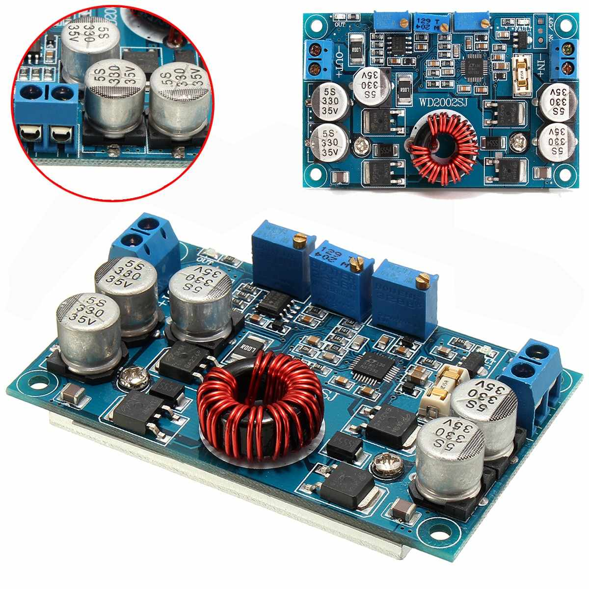 1PC New LTC3780 DC 5V~32V to 1V~30V 10A Automatic Step-Down Regulator Charging Module 77.6 x 46.5 x 15mm Board Module1PC New LTC3780 DC 5V~32V to 1V~30V 10A Automatic Step-Down Regulator Charging Module 77.6 x 46.5 x 15mm Board Module