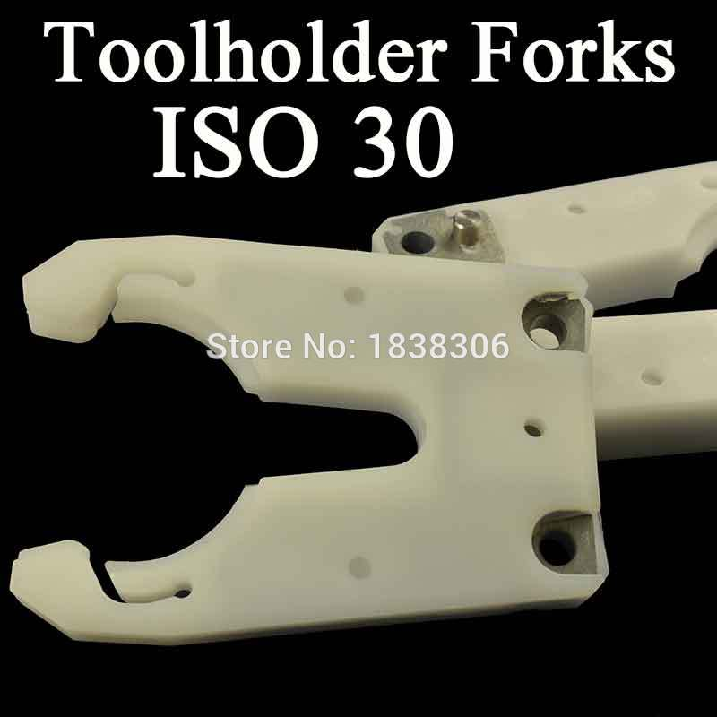 ISO30 ATC tool holder clamp iron ABS flame proof rubber wood work claw CNC Tool Change Forks Auto Tool Changer gripper dvt
