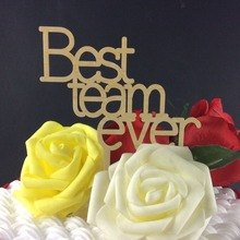 SD-478 Free Shipping Kids Favors Best team ever Party Decoration Foods picks wedding paper cup cake toppers