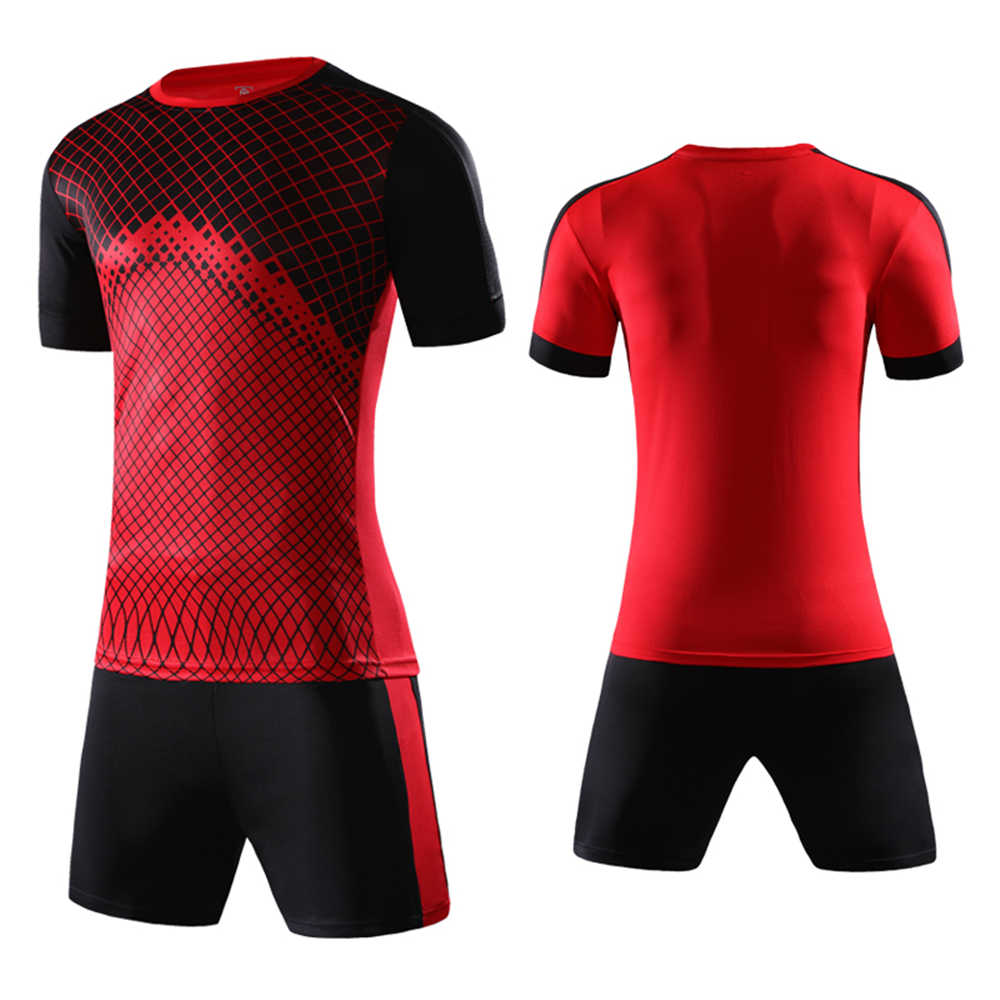 50b14f80e Uniforms Kids boys Football Jerseys Kit Child Soccer Jerseys Sets Futbol  Shorts Suits Sports Survetement Tracksuits