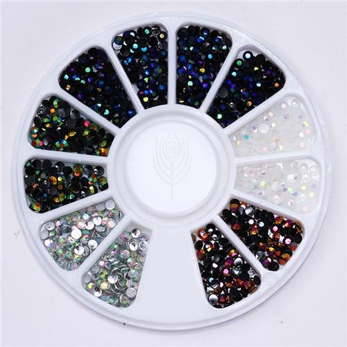 Смешанный цвет камень-хамелион Стразы для ногтей маленькие Необычные бусины Маникюр 3D дизайн ногтей украшения в колесиках аксессуары - Цвет: Pattern 7