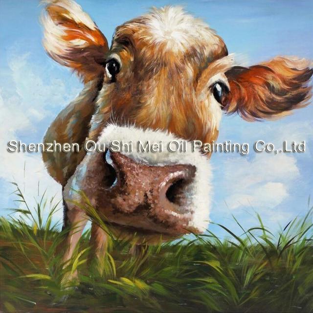 100 handgemalte moderne kuh bilder abstrakte kunst auf leinwand tiere lgem lde f r - Handgemalte bilder auf leinwand ...