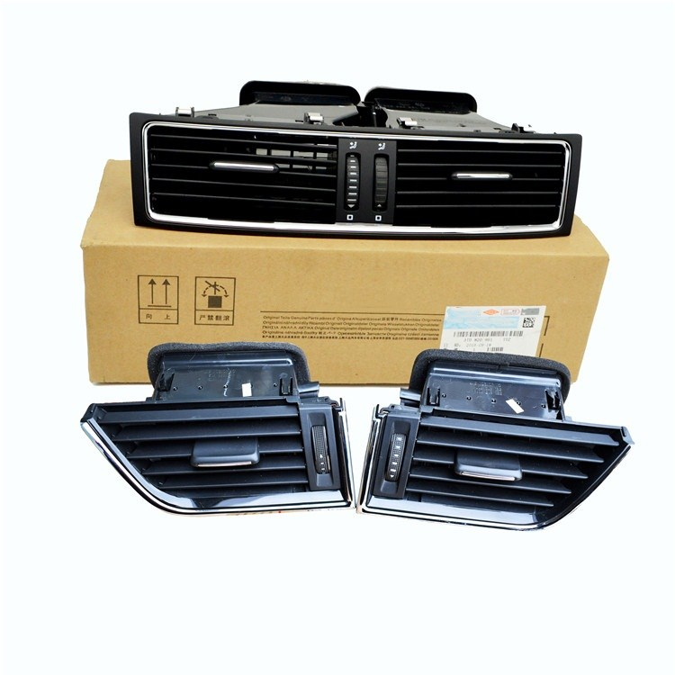 Saborway For Superb Left Right Center Chrome dashboard Heater Cold Air Conditioning Outlet Vent 3T0820951 3T0819701 3T0819702