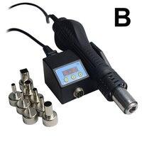 8858D 110V/220V Portable LED BGA Rework Solder Station Hot Air Blower Heat Gun 8858