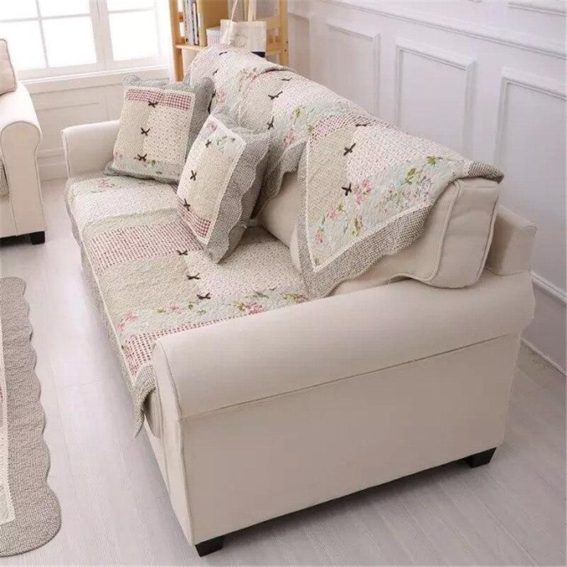 Patchwork Quilt Corner Sofa Cover Sectional Sofa Blanket ...