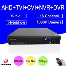 Blue-Ray Hisiclion Чип Металлический Корпус DVR 16 Канала 1080 КАНАЛОВ P/1080N/960 P/720 P 5 в 1 Гибридный CVI TVi AHD DVR NVR Бесплатная доставка