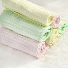 Bamboo Pulp Fiber Honeycomb Small Square Towel Charcoal Wash Baby