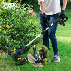 PROSTORMER Lawn Mower Electric  Grass Trimmer 20V Lithium-ion 2000mAh Cordless Grass String Trimmer Pruning Cutter Garden Tools