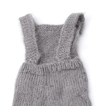New White/Gray Newborn Baby Infant Knitted Mohair Overalls Rompers Photography Props Outfits(China)