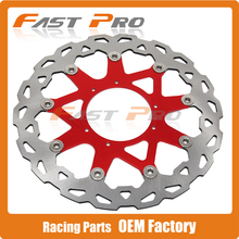 320MM Front Wavy Floating Brake Disc Rotor For CR125 CR250 CRF250R CRF250X CRF450R CRF450X CRF230F CR500 Supermoto Motard