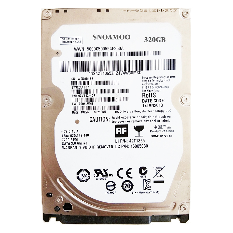 все цены на SNOAMOO Used Internal hard drive 320GB Sata 150MB/s 2.5' inch hard disk SATA HDD2mb/8mb 5400RPM-7200RPM For Laptop Notebook онлайн