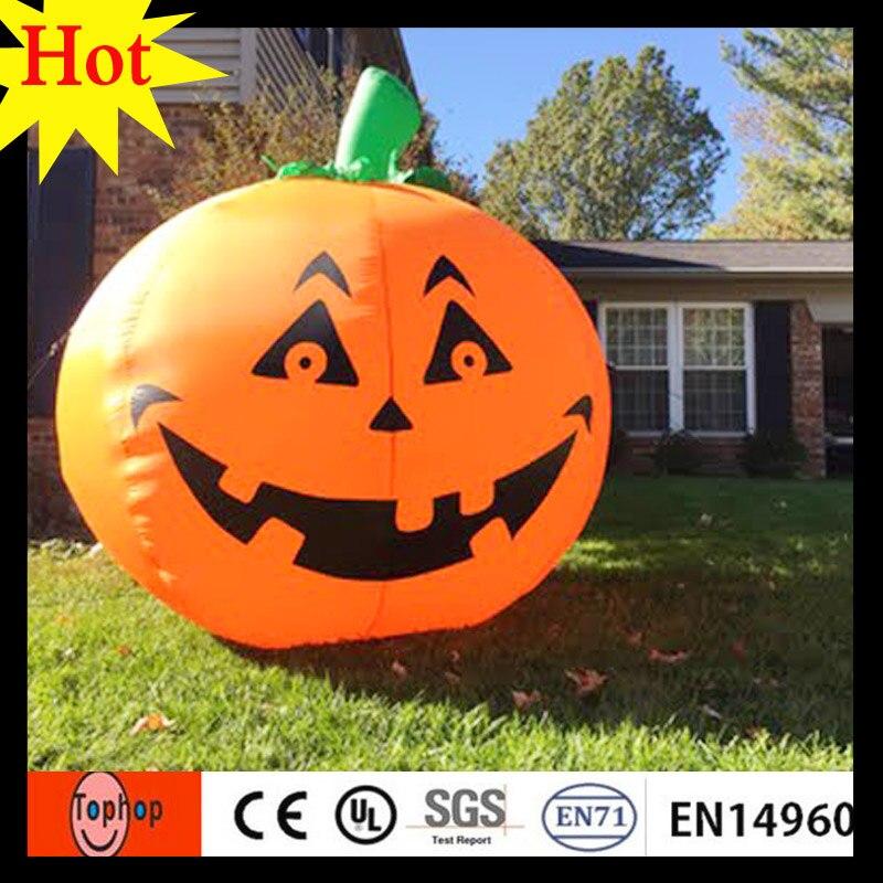 2017 new design hot sales diameter 24m large inflatable pvc plastic halloween pumpkin price 420d - Large Plastic Pumpkins