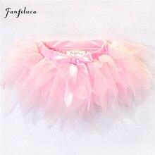 Fanfiluca/юбка-пачка для маленьких девочек трехслойная очень Мягкая сетчатая кружевная юбка-пачка для малышей 4 цвета, для детей от 3 до 24 месяцев