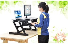 E8 EasyUp Height Adjustable Sit Stand Desk Riser Foldable Laptop Desk Stand With Keyboard Tray Notebook/Monitor Holder Stand