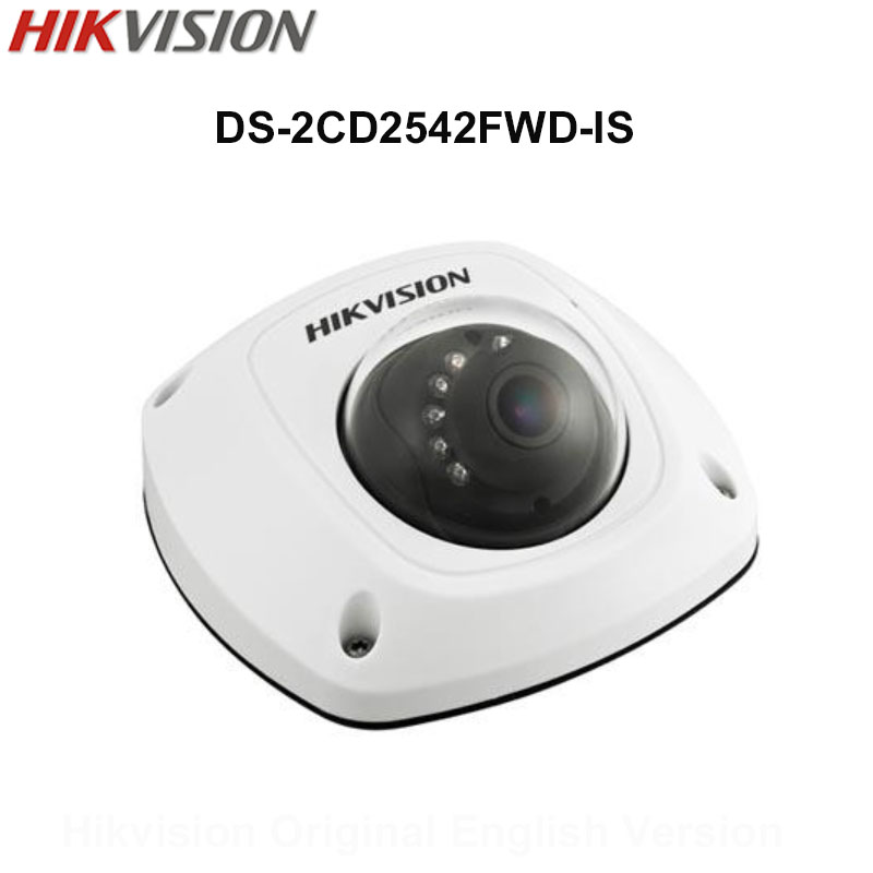 In Stock Hikvision English Version DS-2CD2542FWD-IS  4MP CCTV Camera built in microphone Audio IP Camera POE Security Camer IP67 hancock mark english pronunciation in use intermediate 2 ed with answ audio cds 4 and cd rom