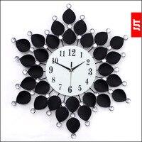 Luminousness Large luxury diamond iron modern wall clock fashion classic mute clock table