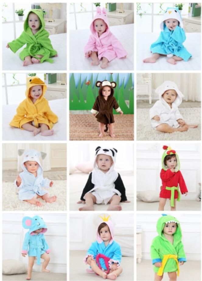 Cotton Children Swimming Hood Cloak Animal Dinosaur Printed Pure Circle Dot Design Baby Towel Blanket Boys Mother & Kids