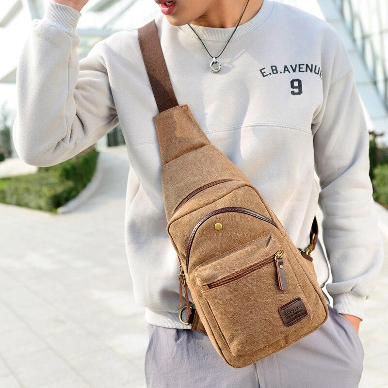 1e6623c54f mens shoulder bag female travel chest pack sac a main vintage men sling bag  for ladies canvas shopper bolsa masculina feminina-in Waist Packs from  Luggage ...